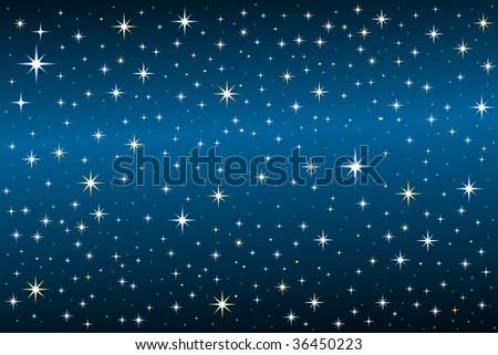Starry  night - stock vector