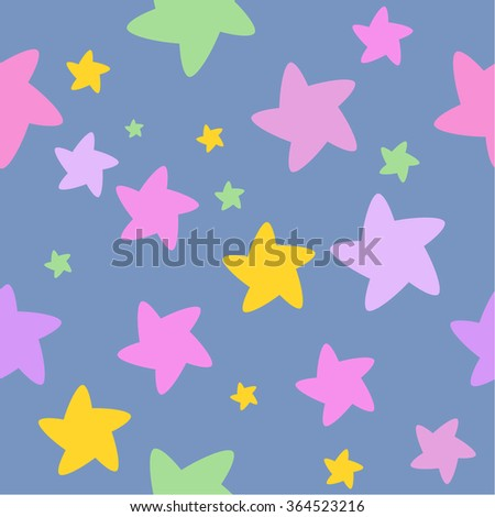 Starry night, Colorful stars background, Seamless background Seamless pattern Great as nursery room decor, poster, greeting card, wall decal, Invitation, t-shirt prints, wallpaper, gift wrapping paper