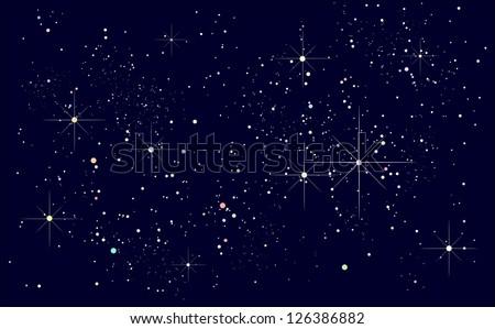 starry night sky - stock vector