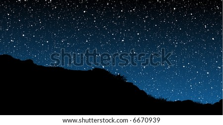 Starry Skies Illustration - stock vector