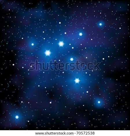Starry Sky - stock vector