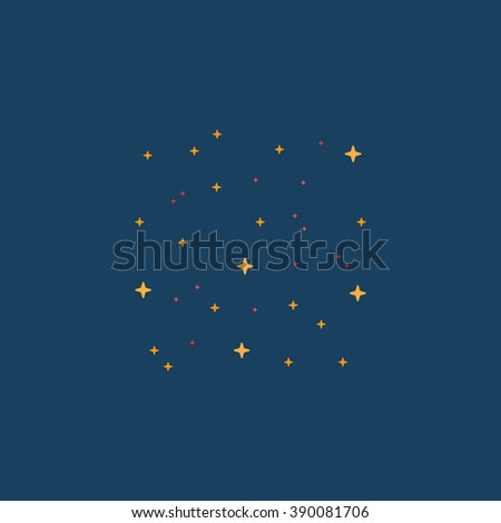 Starry sky. Flat simple modern illustration pictogram. Collection concept icon for infographic project and logo