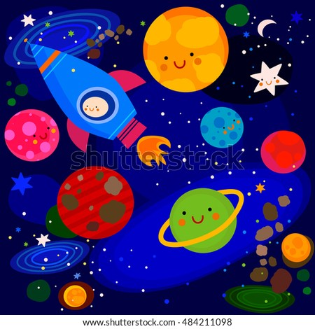 planets and stars beautiful colorful - photo #34