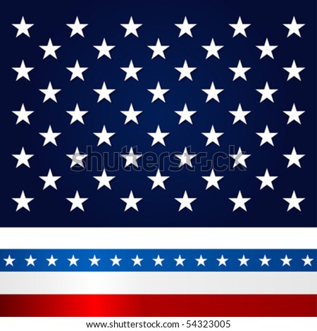 Stars and stripes. Fourth of July celebration theme. - stock vector
