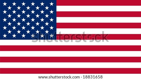 Stars and stripes - Star sprinkled banner - USA flag vector illustration