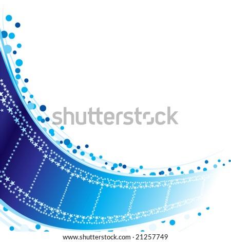 Stars at film strip - stock vector