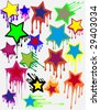Stars - blots, an abstract background - stock vector