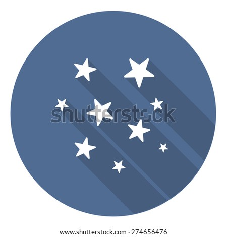 stars cup flat icon. vector illustration - stock vector