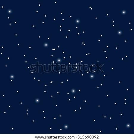 Stars in the night sky vector - stock vector