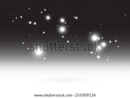 Stars over shiny vector background illustration  template - Abstract vector sparkles  background in space illustration - stock vector