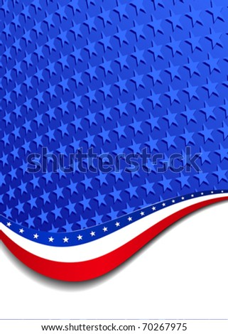 Stars & Stripes Portrait - There are more stars outside the mask, for you to mask as you like. All elements are grouped and on individual layers in the vector file for easy use. - stock vector