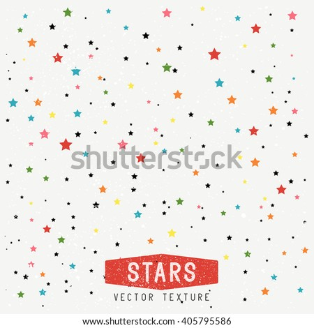 Stars Texture Background. Stars Vector Texture. Vector Illustration.  - stock vector