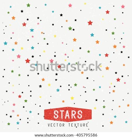 Stars Texture Background. Vector Illustration.  - stock vector