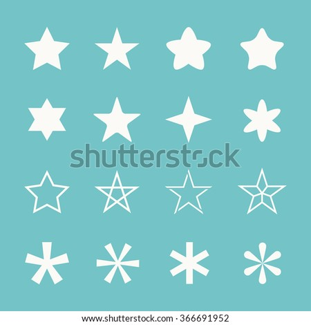 Stars vector set. Star isolated on background. Stars icon. Concept of success, ranking, top, winner, best. Stars symbol. Collection stars shape. Stars silhouettes simple. Stars graphic objects.  - stock vector