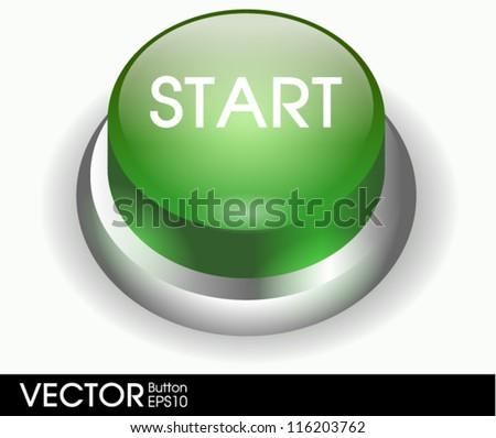 Start button - stock vector