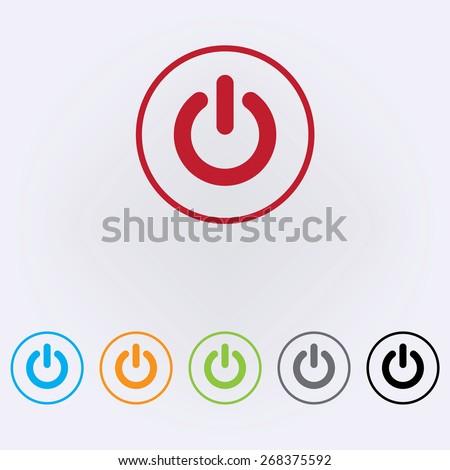 Start icon , power button ,vector illustration - stock vector