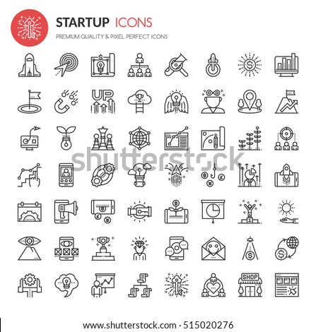 Startup Element Icons , Thin Line and Pixel Perfect Icons
