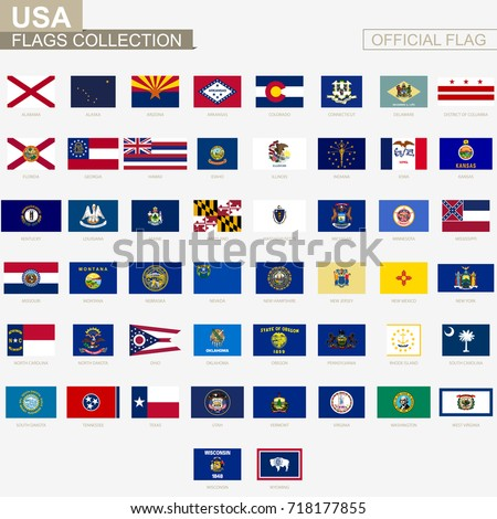 State Flags United States America Official Stock Photo Photo