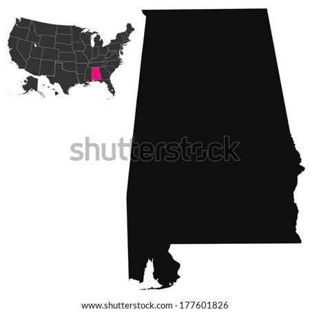 State of Alabama, USA - stock vector