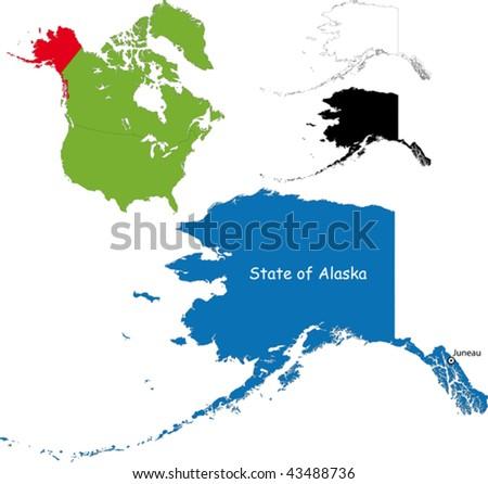 State of Alaska, USA - stock vector