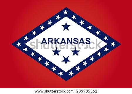 State of arkansas Flag - stock vector
