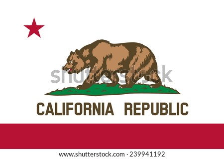 State of California Flag - stock vector