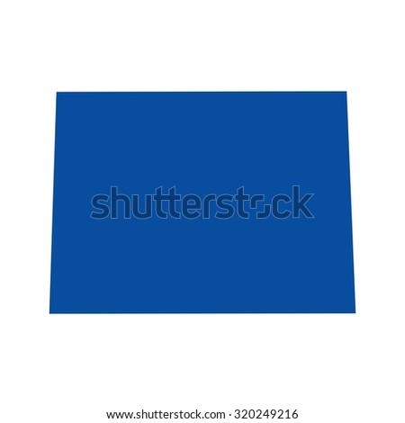state of colorado map - stock vector