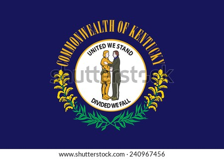 State of Kentucky Flag - stock vector