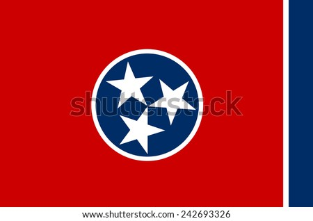 State of tennessee Flag - stock vector