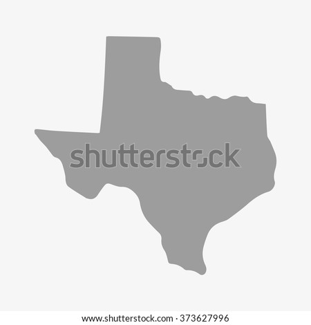 State  of Texas map in gray on a white background - stock vector