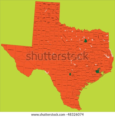Texas Road Map Stock Images RoyaltyFree Images Vectors - A map of the state of texas