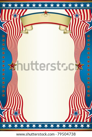 States background. An american background for a poster. - stock vector