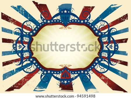states flag background. an american flag background for your message. - stock vector