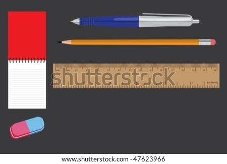 stationary set - stock vector