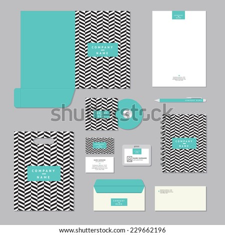 Stationary template design. Corporate identity business set. - stock vector