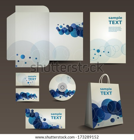 Stationery, Corporate Image Design with Vivid Colors - stock vector