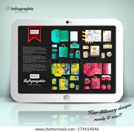 stationery design collection, identity template