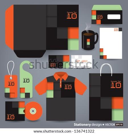 Stationery design set in vector format, Modern design concept. - stock vector