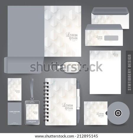 stationery set design stationery template corporate stock vector