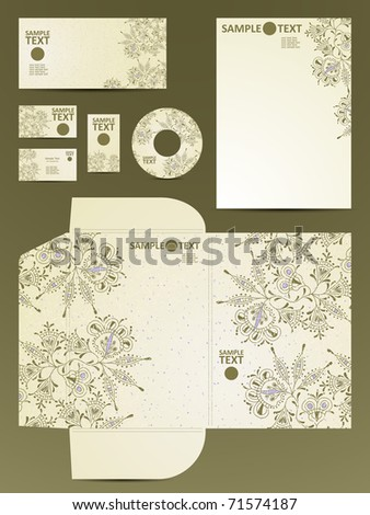 stationery set, eps10 - stock vector