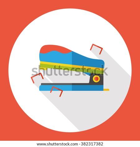 stationery stapler flat icon - stock vector