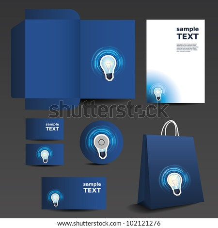 Stationery template design - business set - stock vector