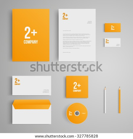 Stationery template logo corporate identity company em vetor stock stationery template with logo corporate identity company branding cd business reheart Gallery