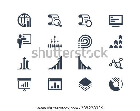 Statistics and report icons - stock vector