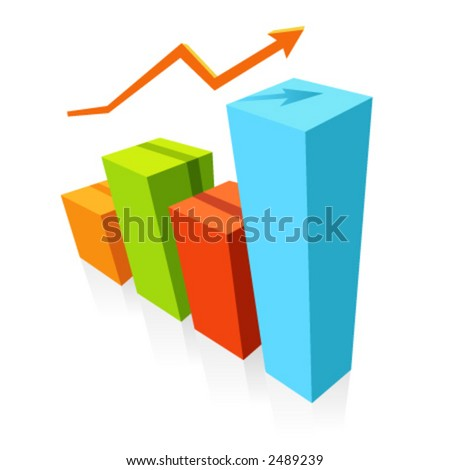 Statistics graphic.Useful for various projects. - stock vector