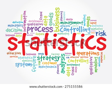 STATISTICS word cloud, business concept - stock vector