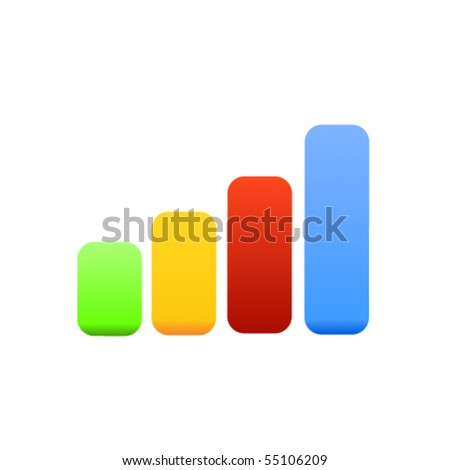 Stats icon - stock vector