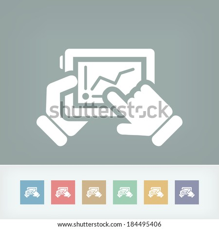 Stats on tablet - stock vector