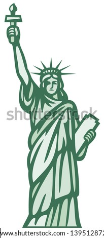 statue of liberty - stock vector