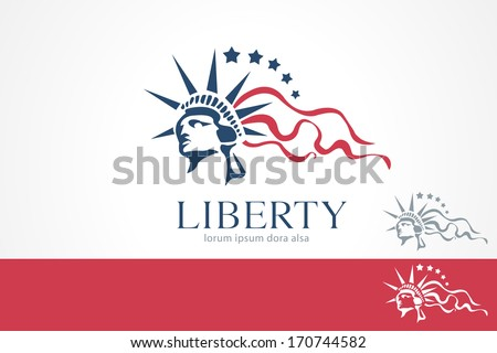 Statue of Liberty Freedom Concept Design Template. Lady. Liberty. USA. Justice. Law. - stock vector